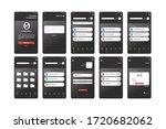 black storage management app ui ...