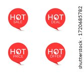 hot sale icon set. red round... | Shutterstock .eps vector #1720685782