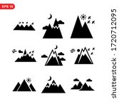 mountain icon or logo isolated... | Shutterstock .eps vector #1720712095