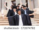 group of happy university... | Shutterstock . vector #172074782