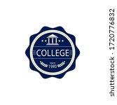 academic emblem logo  ... | Shutterstock .eps vector #1720776832