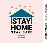 stay home stay safe  prevention ...   Shutterstock .eps vector #1720781002