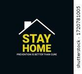 stay home  prevention is better ...   Shutterstock .eps vector #1720781005