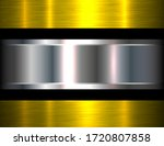 metallic background silver gold ... | Shutterstock .eps vector #1720807858