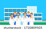 doctors and nurses team...   Shutterstock .eps vector #1720809505