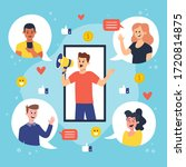 social media icon person call | Shutterstock .eps vector #1720814875