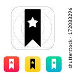 bookmark with star icon. vector ...