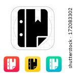 note bookmark icon. vector...