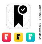 check bookmark icon. vector...
