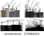 illustration with four cities... | Shutterstock .eps vector #172083422