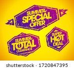 vector stamp imprints set  ... | Shutterstock .eps vector #1720847395