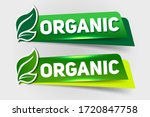 organic text on green tag... | Shutterstock .eps vector #1720847758