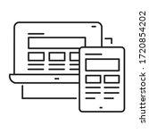 responsive design black line...