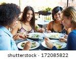 group of female friends...   Shutterstock . vector #172085822