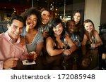 group of friends enjoying drink ... | Shutterstock . vector #172085948