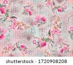 Digital Allover Flower Pattren...
