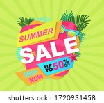 summer sale  up to 50  off ... | Shutterstock .eps vector #1720931458