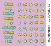 buttons for menus and icons for ...