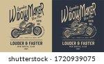 vintage motorcycle monochrome... | Shutterstock .eps vector #1720939075