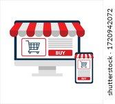 online shopping concept.... | Shutterstock .eps vector #1720942072