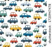 Vehicle Seamless Pattern Hand...
