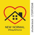 logo of new normal  stay at... | Shutterstock .eps vector #1720953268