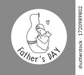 father's day. beautiful line... | Shutterstock .eps vector #1720989802