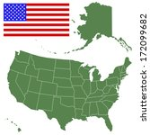map and flag of the usa. all... | Shutterstock .eps vector #172099682