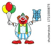 Funny Clown With Happy Facial...