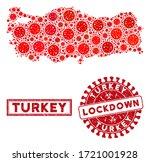 Covid 2019 Virus Collage Turkey ...