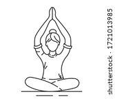 yoga black line icon. pictogram ...