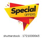 special offer price tag vector... | Shutterstock .eps vector #1721030065