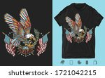 american patriotic art. eagle ... | Shutterstock .eps vector #1721042215