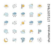 weather rgb color icons set....   Shutterstock .eps vector #1721057842