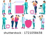 clinic of medical health  woman ... | Shutterstock . vector #1721058658