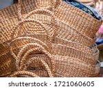Wicker Bags In The Market....