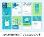 set of brochure  annual report  ... | Shutterstock .eps vector #1721073775
