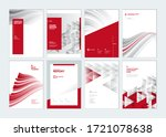 set of brochure  annual report  ... | Shutterstock .eps vector #1721078638