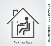 work from home icon vector... | Shutterstock .eps vector #1721099305