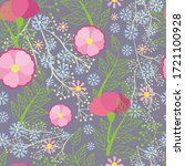 set vector seamless pattern on ... | Shutterstock .eps vector #1721100928