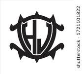 hj logo monogram isolated with... | Shutterstock .eps vector #1721101822