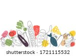 background with  food. pattern... | Shutterstock .eps vector #1721115532
