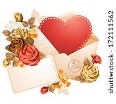 congratulation on valentine's...   Shutterstock .eps vector #172111562