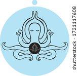 octopus in meditation state ... | Shutterstock .eps vector #1721117608