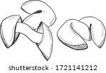 vector illustration of a wish... | Shutterstock .eps vector #1721141212