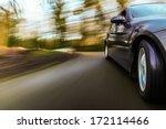 front side view of luxury sedan ... | Shutterstock . vector #172114466