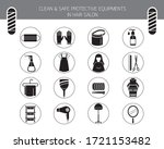 clean and safe protective...   Shutterstock .eps vector #1721153482