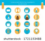 clean and safe protective...   Shutterstock .eps vector #1721153488