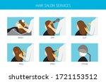 woman with services in hair... | Shutterstock .eps vector #1721153512