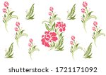 a vector seamless of floral... | Shutterstock .eps vector #1721171092